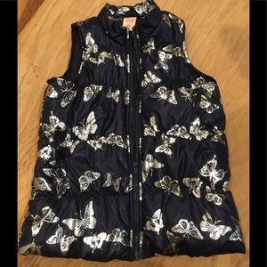 Faded glory butterfly puffer vest 10-12 make offer